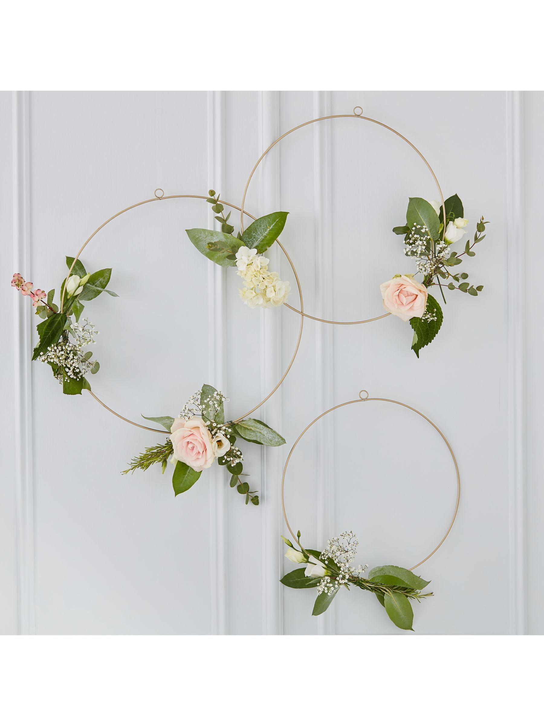 Ginger Ray Ginger Ray Decorative Floral Hoops, Pack of 3