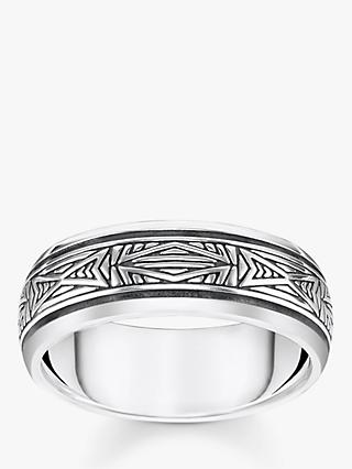 THOMAS SABO Rebel Textured Ring, Silver