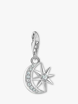 THOMAS SABO Charm Club Moon and Star Charm, Silver