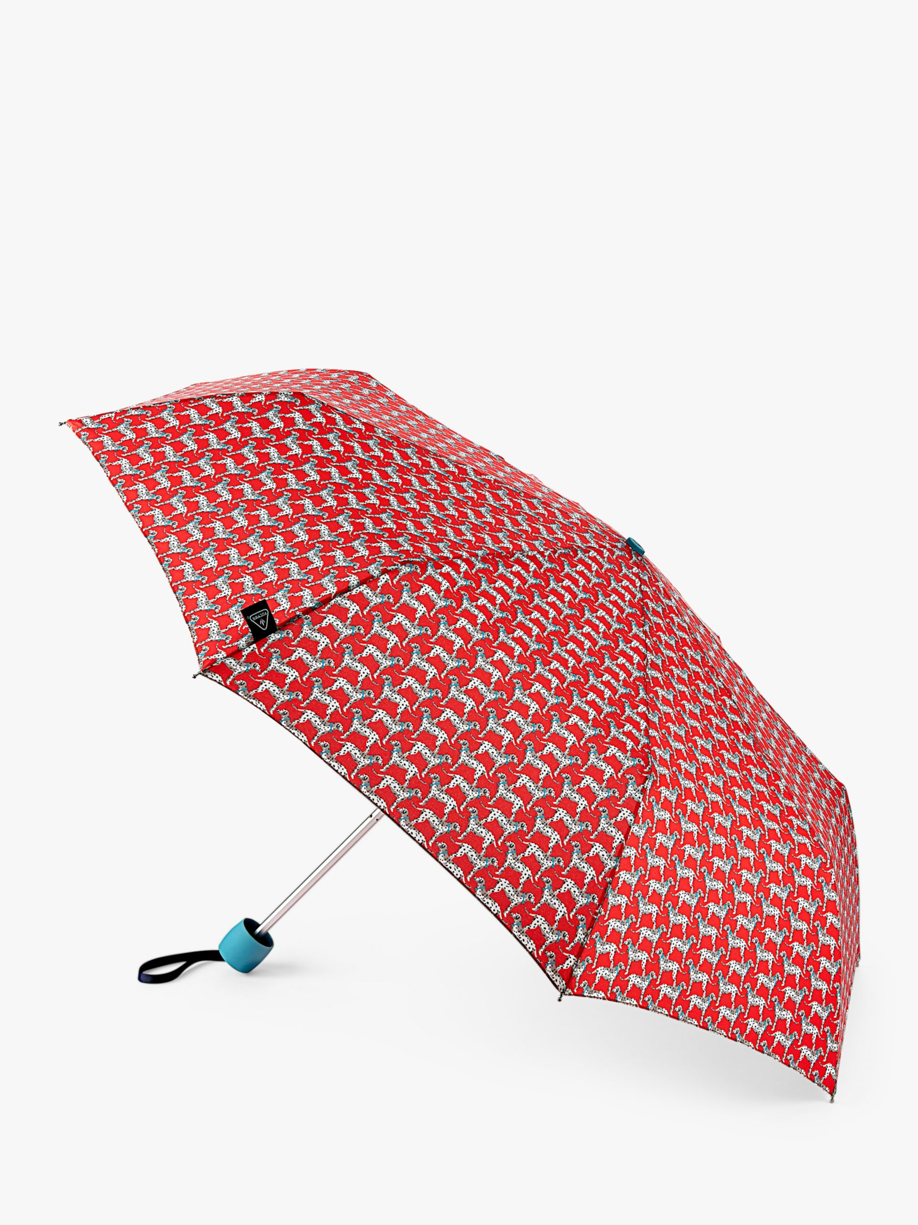 Fulton Fulton Dalmatian Geometric Telescopic Umbrella, Red