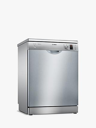 Bosch SMS25AI00G Freestanding Dishwasher, A++ Energy Rating, Silver Inox