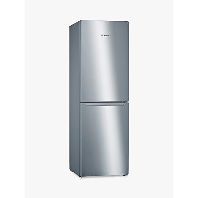Bosch KGN34NL3AG Freestanding Fridge Freezer, A++ Energy Rating, 60cm Wide, Inox-look