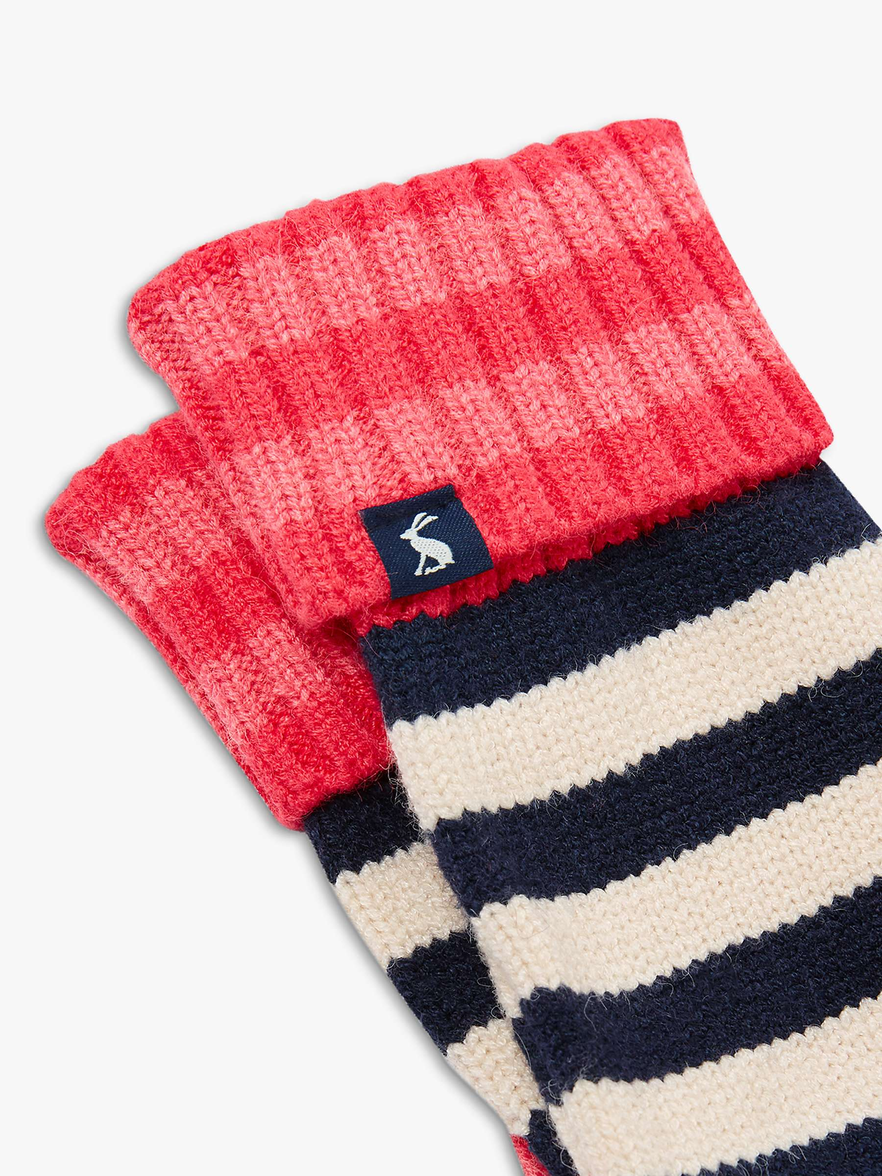 PINK MULTI STRIPE in One Size Joules Womens Chillaway Stripe Knitted Scarf