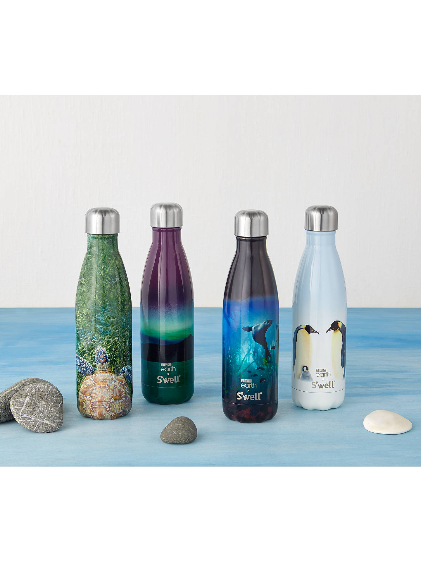 Buy BBC Earth Northern Lights S'well Vacuum Insulated Drinks Bottle, 500ml, Blue/Green Online at johnlewis.com