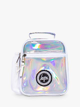 Hype Children's Holographic Lunchbox, Silver