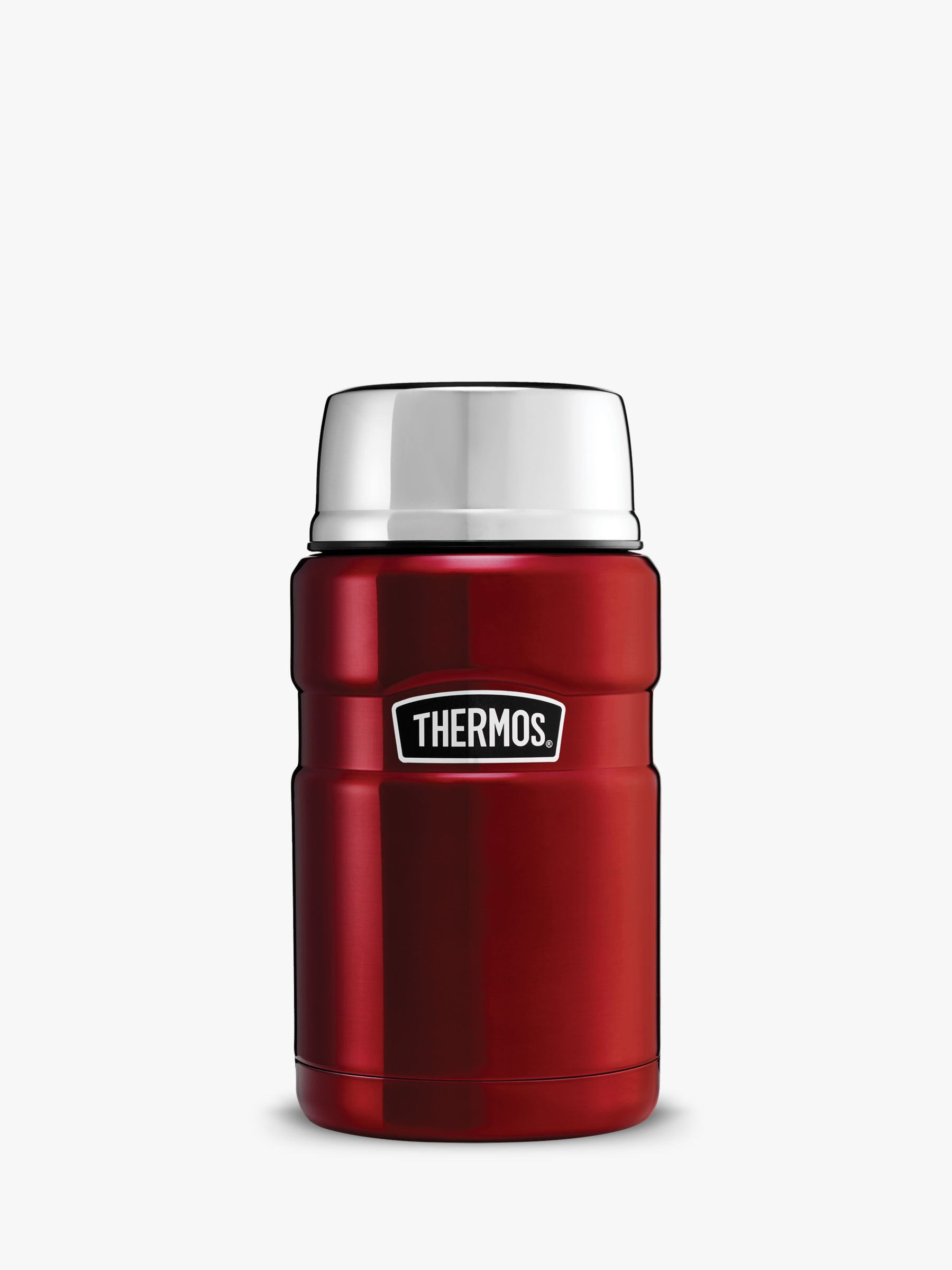 Thermos Thermos King Stainless Steel Food Flask, 710ml, Red