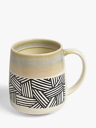 John Lewis & Partners Reactive Glaze Jumbo Mug, 500ml, Lime