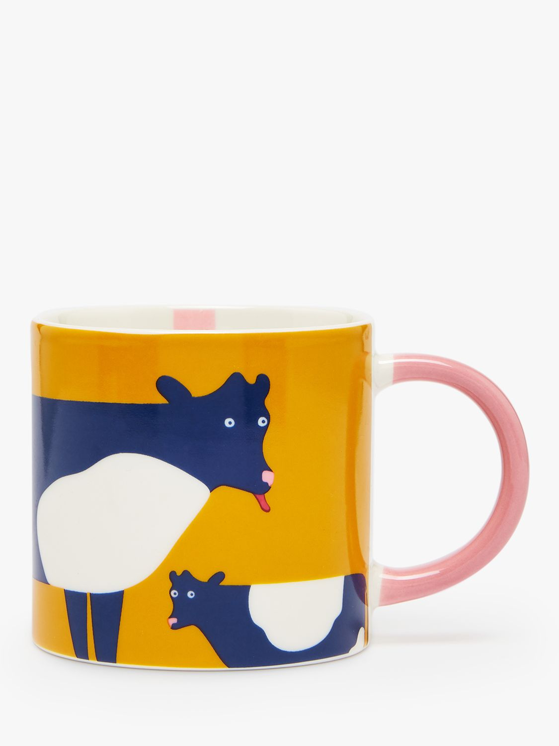Joules Joules Udderly Cow Mug, 300ml, Yellow/Multi
