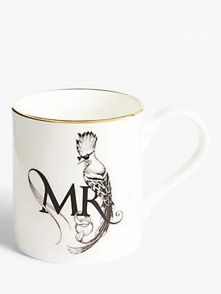 Rory Dobner Lovebirds 'Mr' Majestic Mug, 400ml