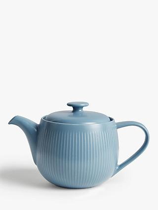 John Lewis & Partners Fluted Stoneware Teapot, 930ml