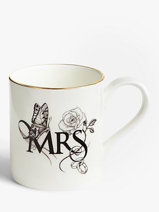 Rory Dobner Lovebirds 'Mrs' Majestic Mug, 400ml