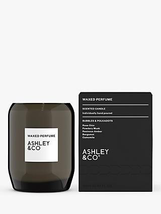 Ashley & Co Bubbles & Polkadots Waxed Perfume Scented Candle, 310g