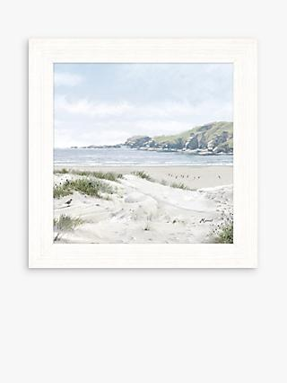 Richard Macneil - Across The Bay Framed Print, 37 x 37cm, Blue/Multi