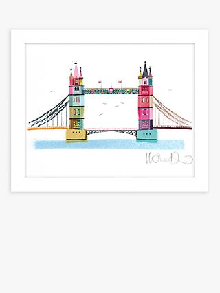 Ilona Drew - Tower Bridge Framed Print, 27.5 x 33.5cm, Multi