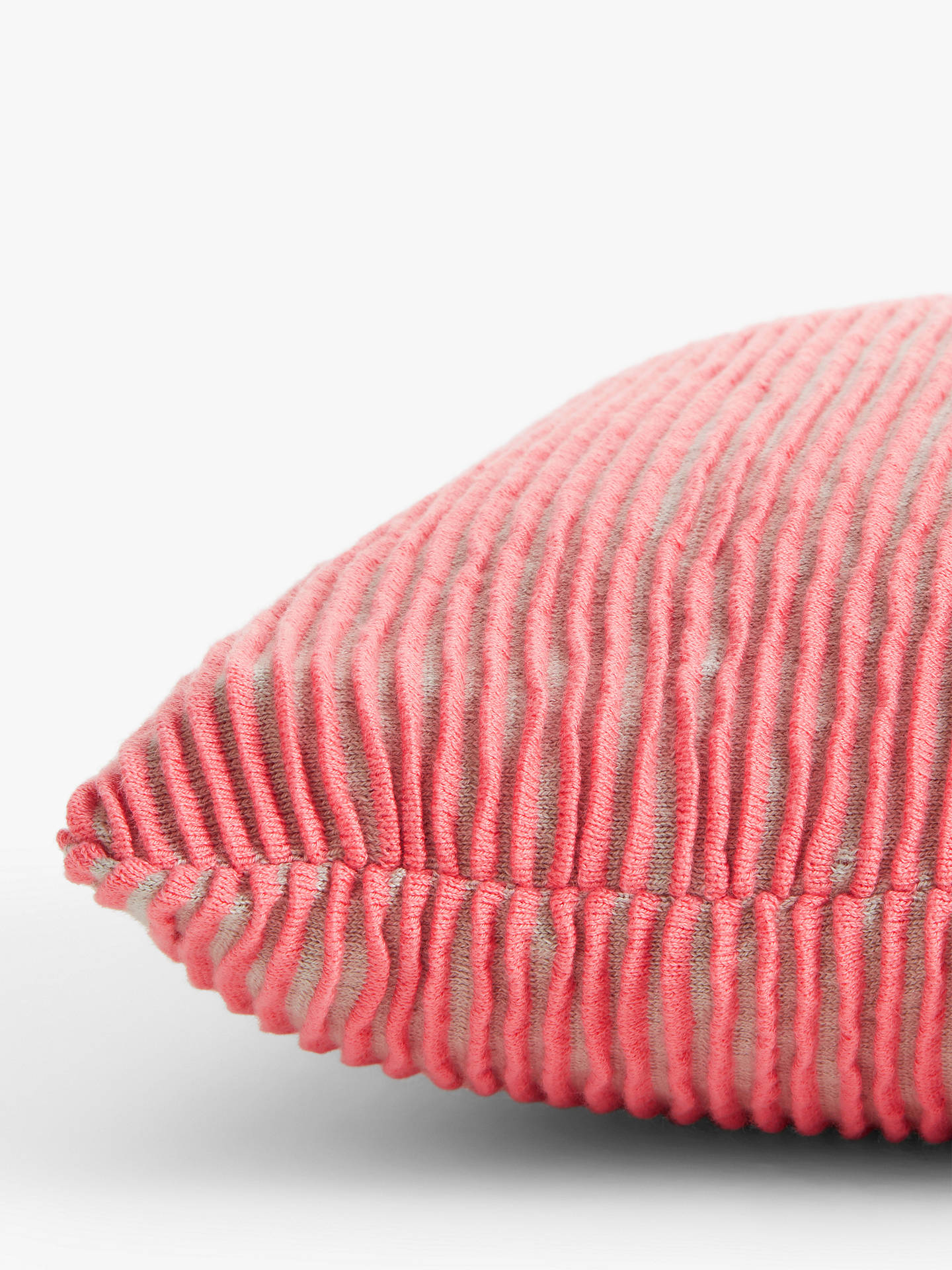 Buy John Lewis & Partners Rib Knit Cushion, Cantaloupe Online at johnlewis.com