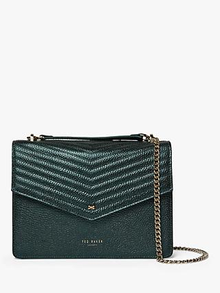 Ted Baker Kamille Leather Crossbody Bag, Dark Green