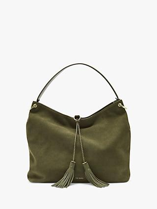 Ted Baker Demmi Leather Tassel Hobo Bag