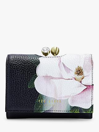 Ted Baker Agata Floral Leather Purse, Black