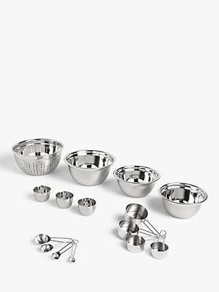 ANYDAY John Lewis & Partners Essentials Stainless Steel Baking Set, 9 Piece