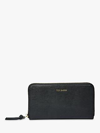 Ted Baker Fayrie Zip Around Crosshatch Leather Purse