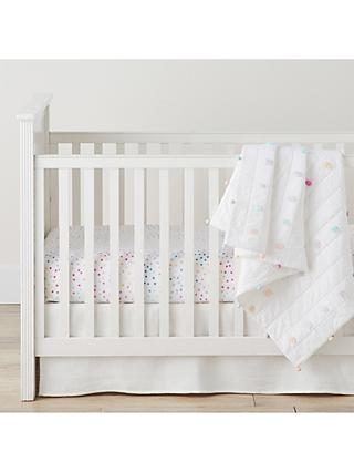 Pottery Barn Kids Nadia Dot Fitted Cotbed Sheet, 70 x 132cm, Multi