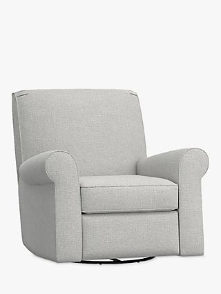 Pottery Barn Kids Charleston Slim Reclining Chair, Slub Ash