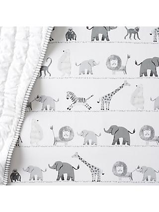 Pottery Barn Kids Organic Lawson Fitted Cotbed Sheet, 70 x 132cm, Multi