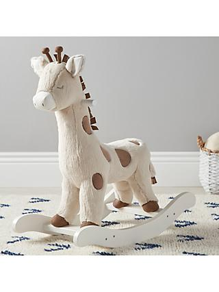 Pottery Barn Kids Plush Rocking Giraffe