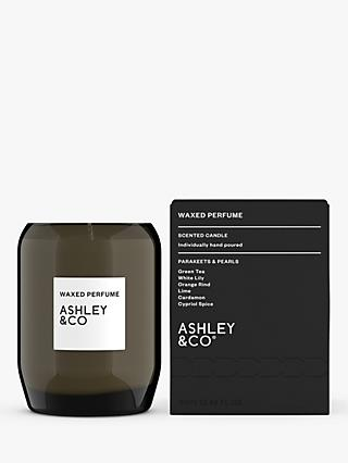 Ashley & Co Parakeets & Pearls Waxed Perfume Scented Candle, 310g