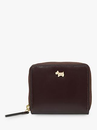 Radley College Green Leather Small Zip Around Purse