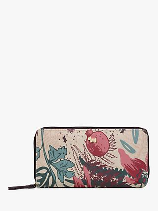 Radley Botanical Floral Around Matinee Purse, Dove Grey/Multi
