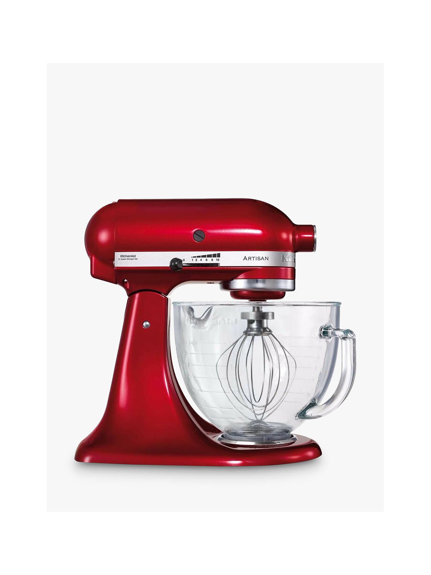 Buy KitchenAid Artisan 4.8L Stand Mixer, Candy Apple Red Online at johnlewis.com