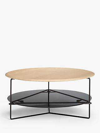 John Lewis & Partners Tri Coffee Table, Natural/Black