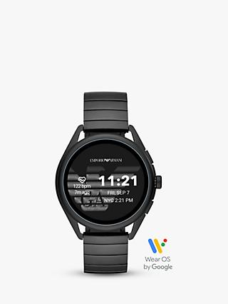 Emporio Armani Connected ART5020 Men's Bracelet Strap Touch Screen Smartwatch, Black