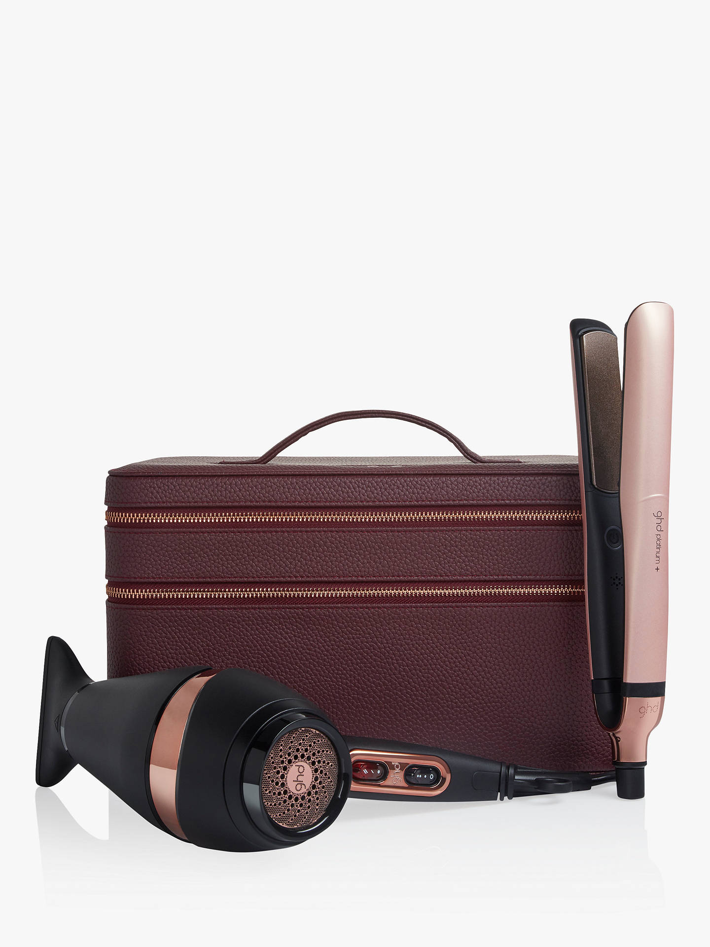 Buy ghd Platinum+® Styler and Air® Hair Dryer Deluxe Gift Set, Black/Rose Gold Online at johnlewis.com