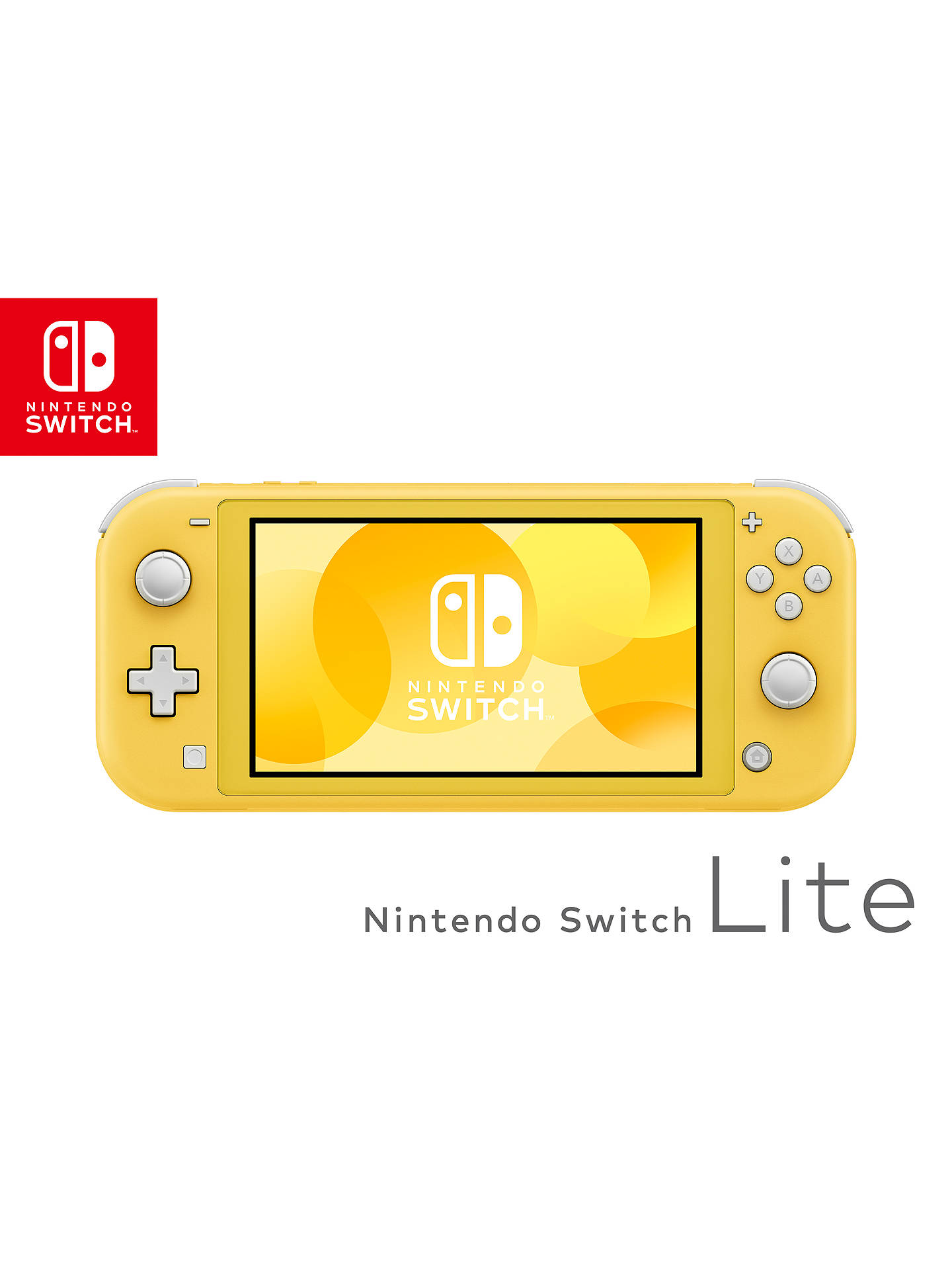 Buy Nintendo Switch Lite, Handheld Console, Yellow Online at johnlewis.com