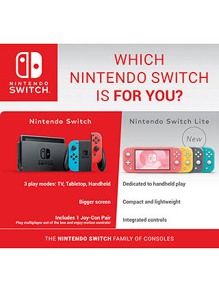 Buy Nintendo Switch Lite, Handheld Console, Grey Online at johnlewis.com
