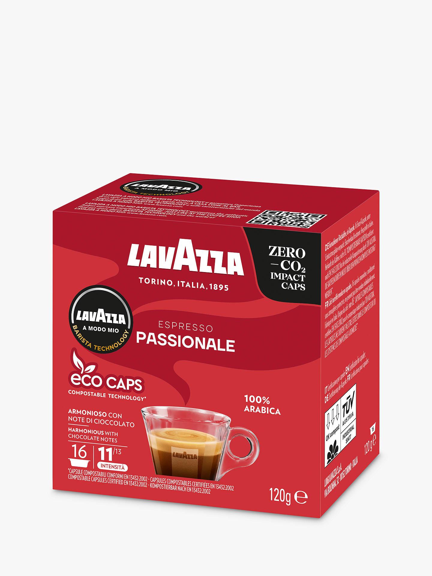 Lavazza Passionale A Modo Mio Espresso Eco Capsules Pack Of 16