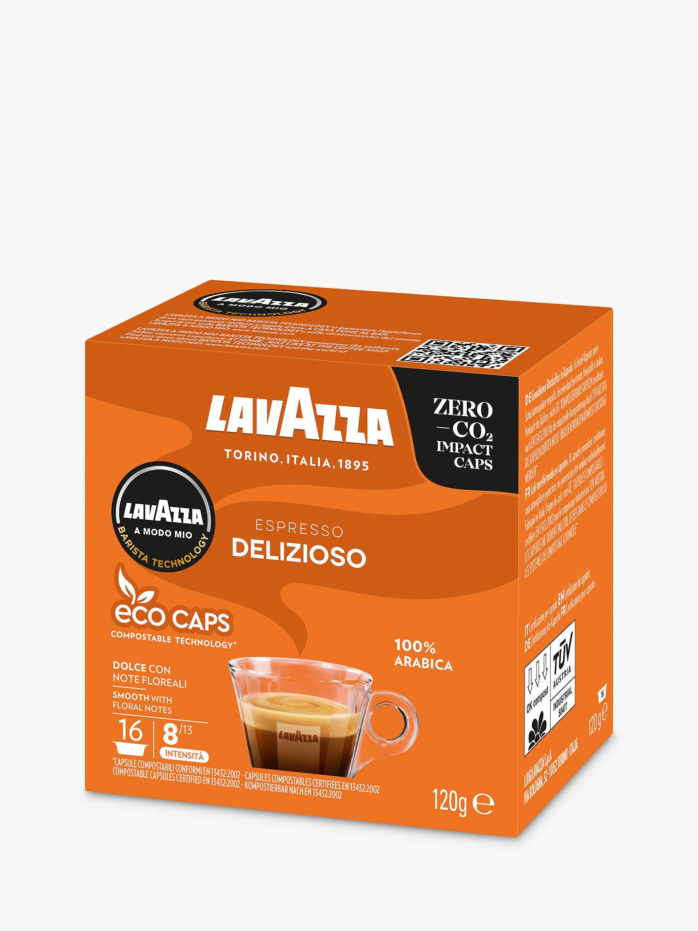 Lavazza Delizioso A Modo Mio Espresso Eco Capsules Pack Of 16