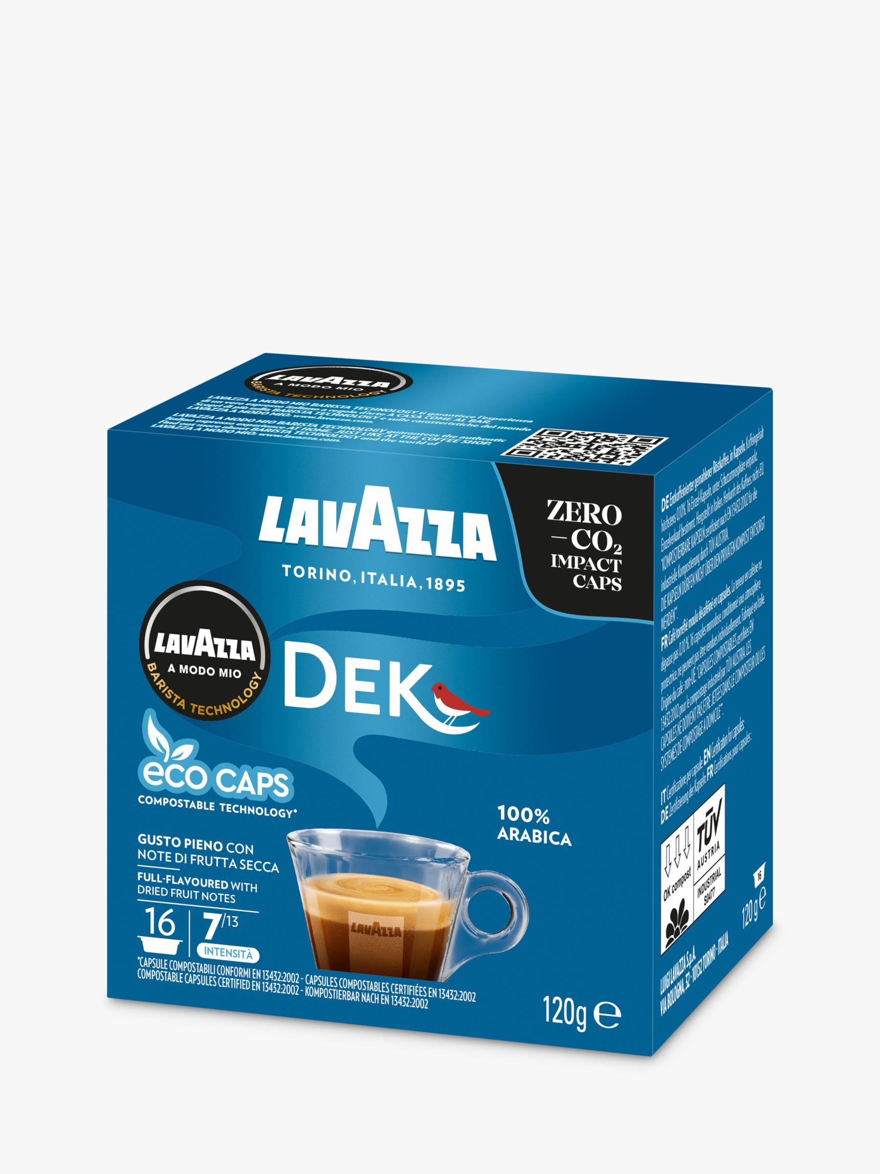 Lavazza Lavazza Dek Cremoso A Modo Mio Espresso Eco Capsules, Pack of 16