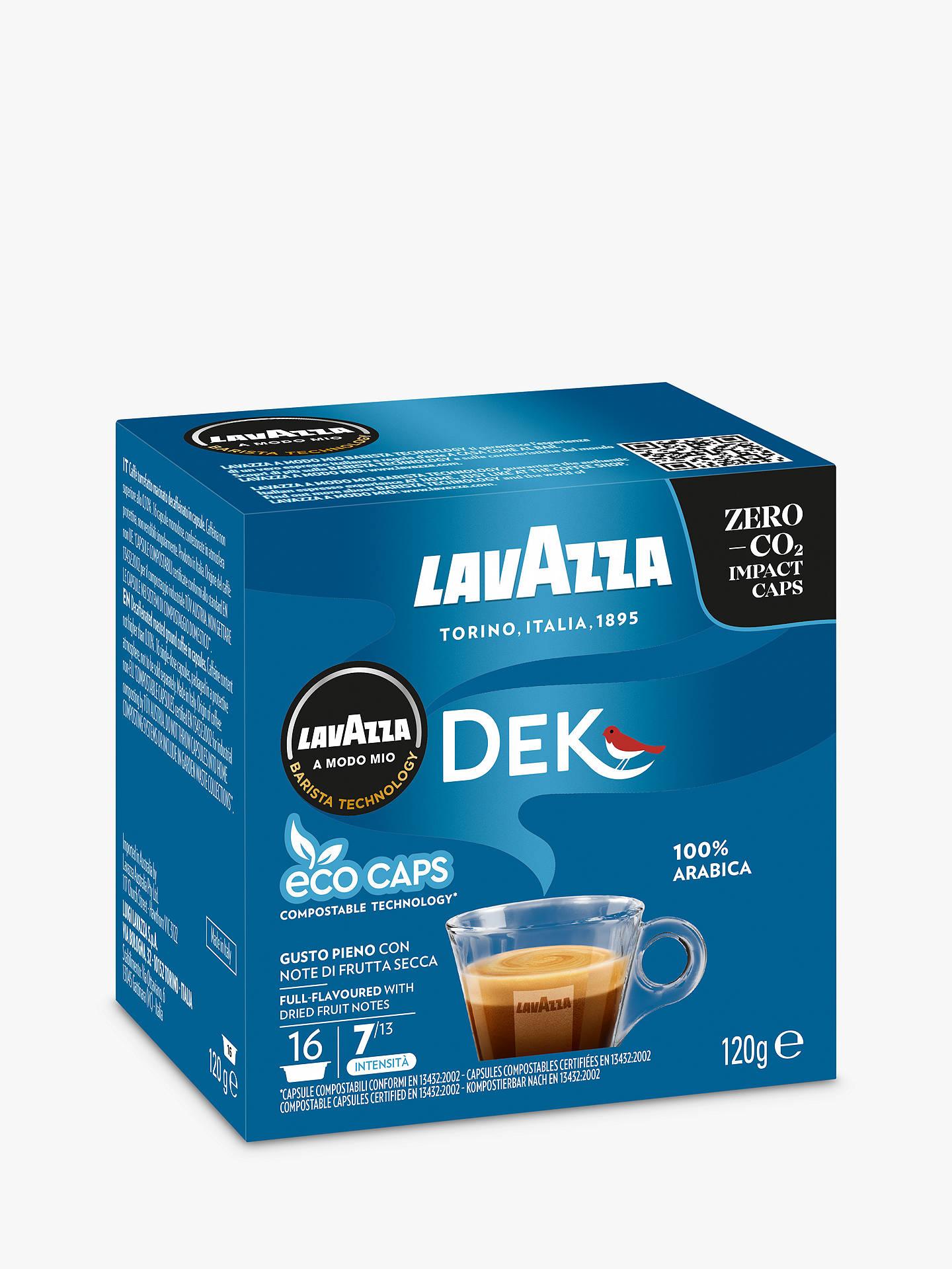 Lavazza Dek Cremoso A Modo Mio Espresso Eco Capsules Pack Of 16
