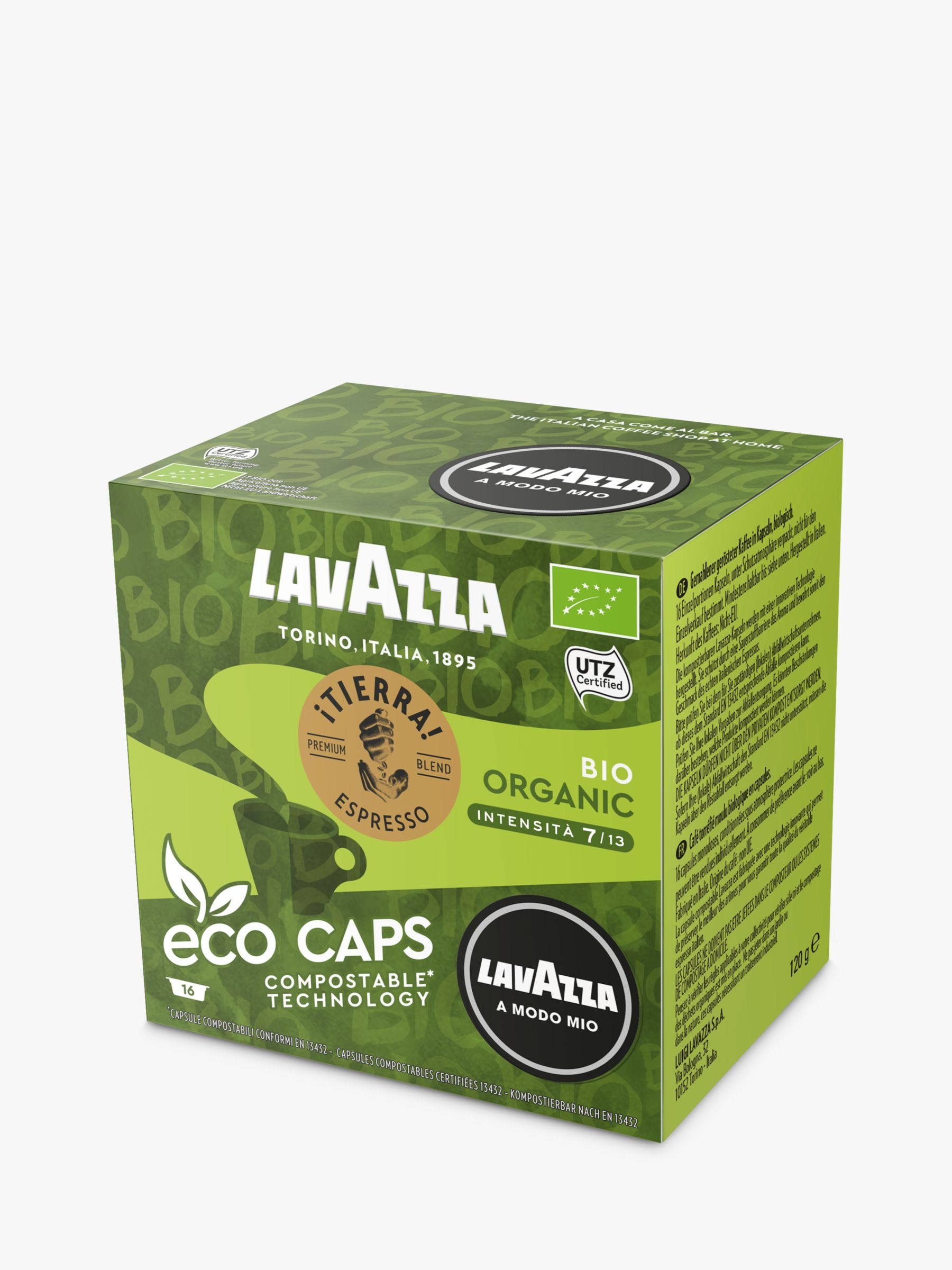 Lavazza Lavazza Tierra Bio-Organic A Modo Mio Espresso Eco Capsules, Pack of 16