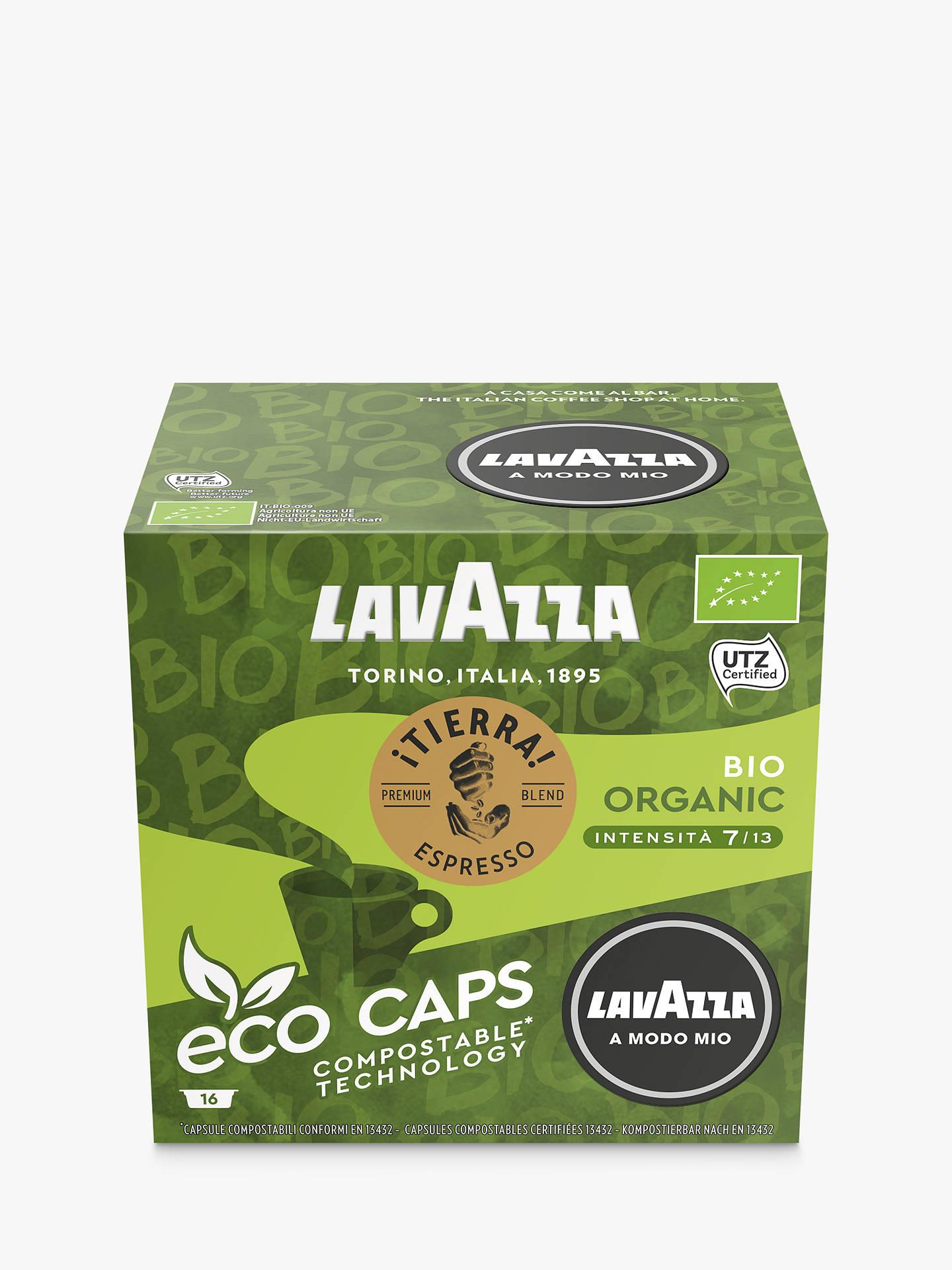 Lavazza Tierra Bio Organic A Modo Mio Espresso Eco Capsules Pack Of 16