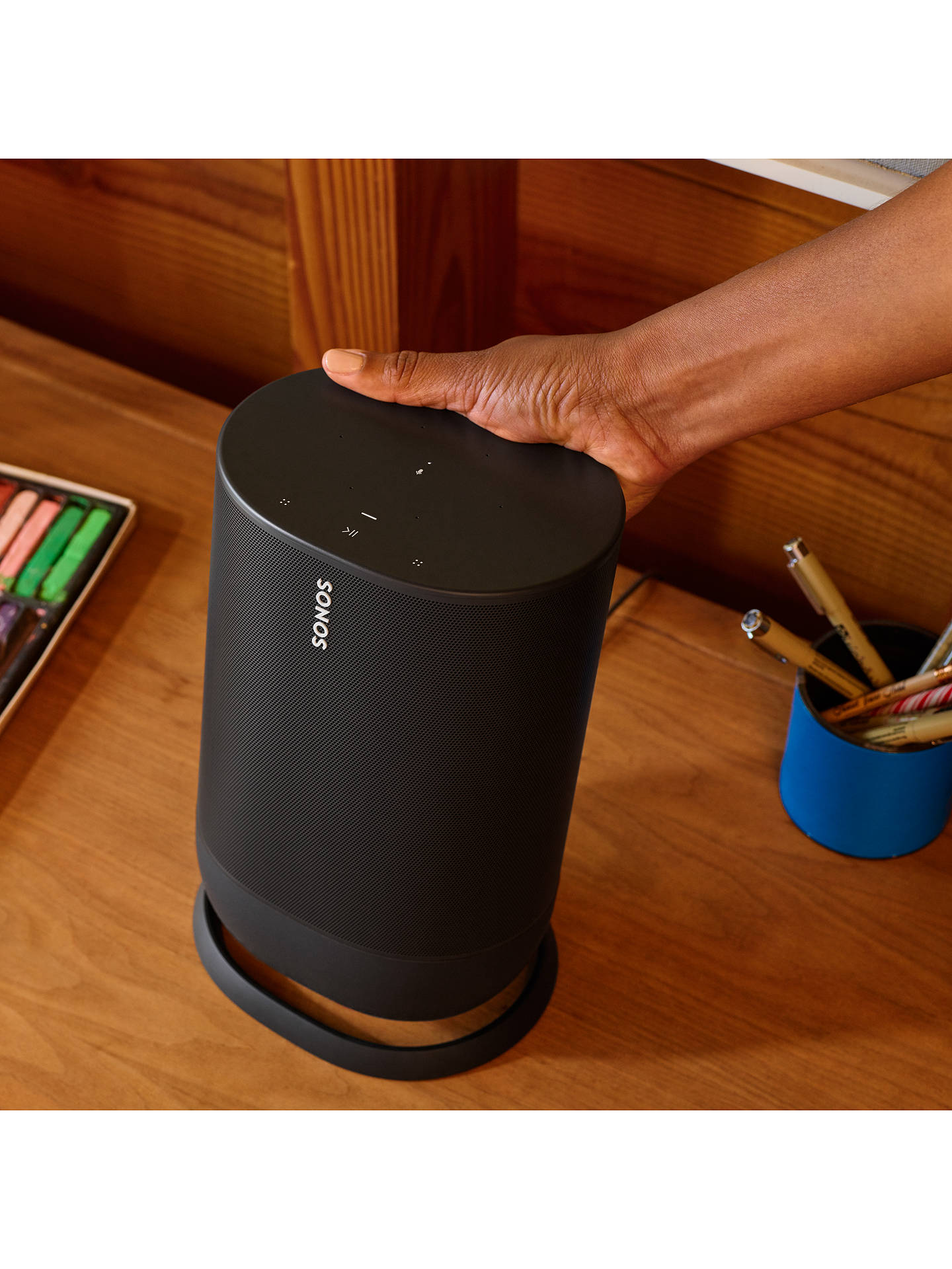 Buy Sonos Move Smart Speaker with Voice Control, Black Online at johnlewis.com