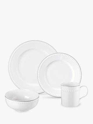 Mary Berry Signature Collection Dinnerware Set, White, 16 Piece