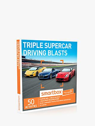 Smartbox Triple Supercar Driving Blast Gift Experience