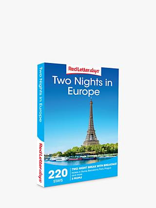 Red Letter Days Two Nights in Europe Gift Experience