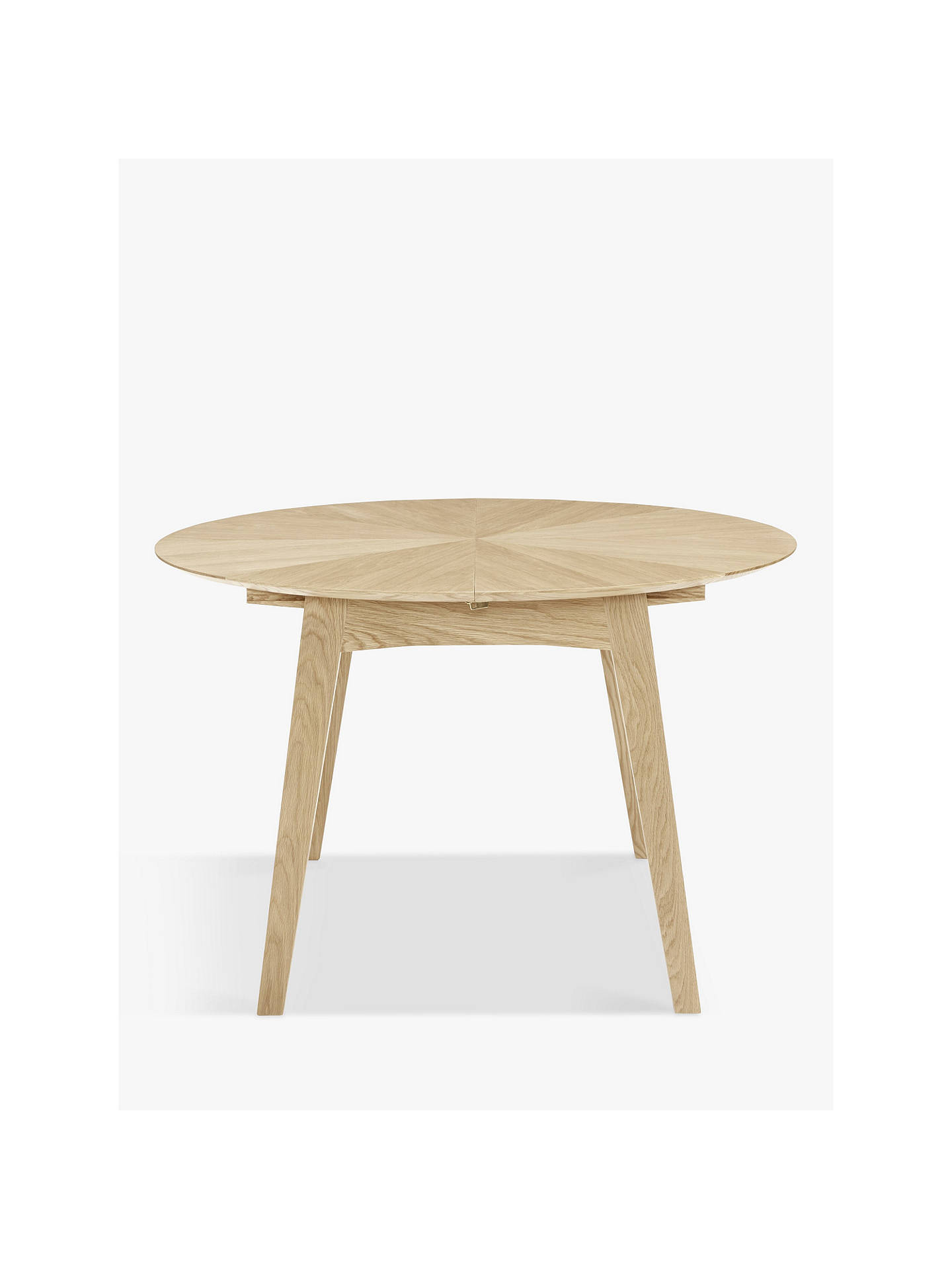 Buy John Lewis & Partners Duhrer 4-6 Seater Extending Round Dining Table, Oak Online at johnlewis.com