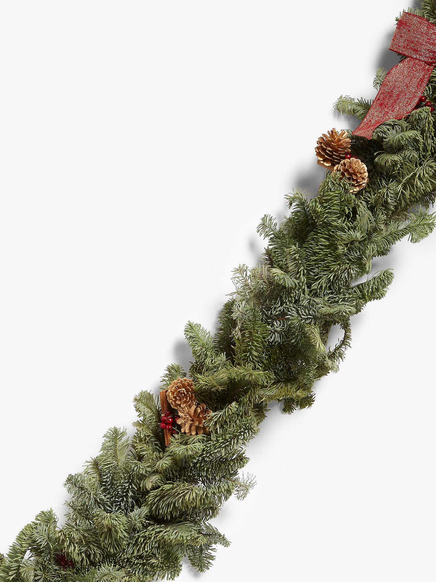 Buy John Lewis & Partners Traditions Real Garland, Red, 2m Online at johnlewis.com
