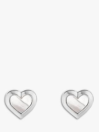 Ted Baker Heila Mother of Pearl Heart Stud Earrings